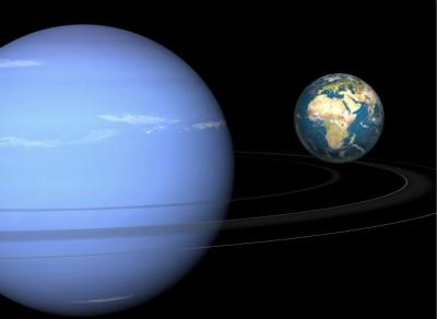 躺在轨道上运行的天王星