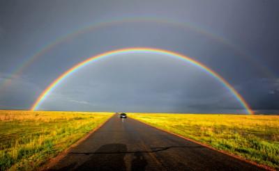 有没有彩虹是直的—没有
