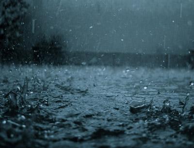 雨点是什么形状的