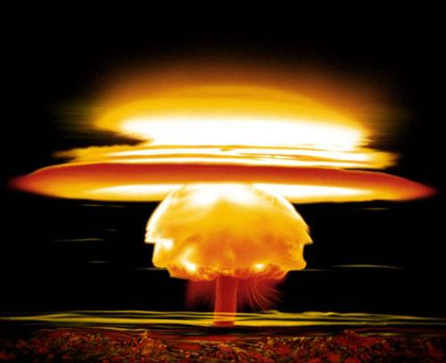 为什么原子弹爆炸时会形成蘑菇云