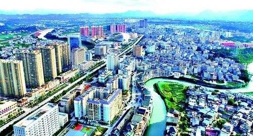 中国县城离得最近的两个县