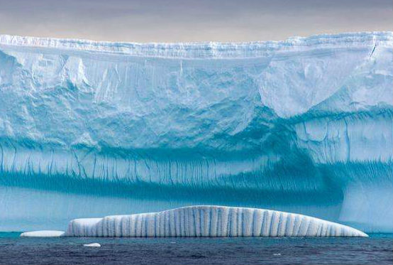 北极的的冰川只有南极的十分之一