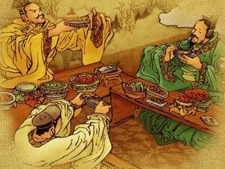 古人吃饭并不用筷子