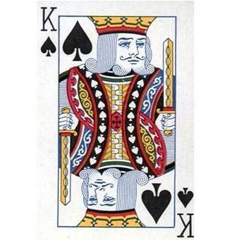 扑克牌黑桃K上为何常有竖琴图案