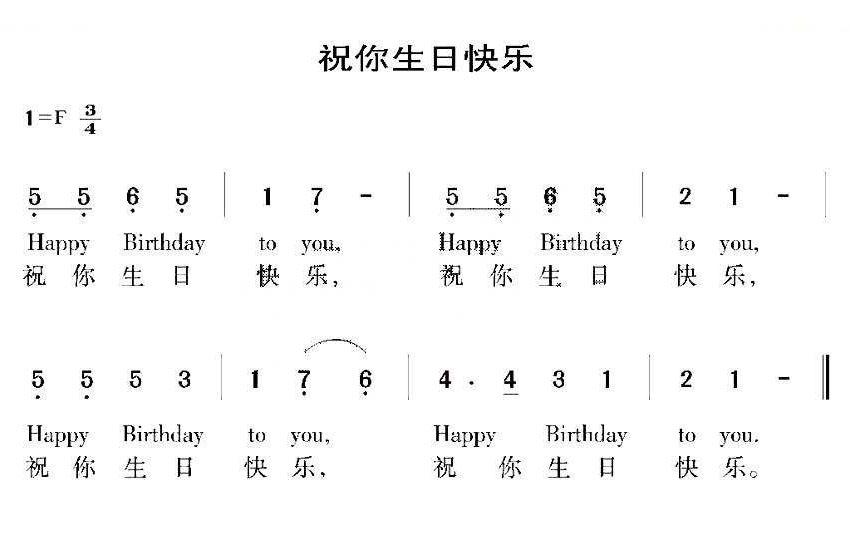 《祝你生日快乐》这首歌是谁写的