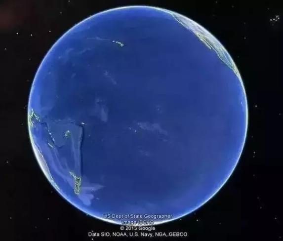太平洋能占到地球表面积的三分之一