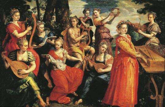 缪斯女神是希腊神话里的哪位女神