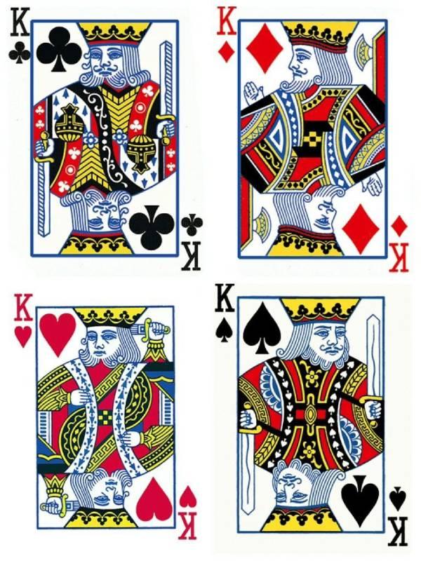 扑克牌上的4个K分别是谁 个个来历不凡